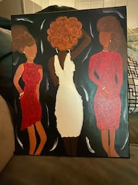 Hand Painted Wood Canvas Art
