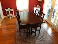rectangular brown wooden dining table with chairs Washington, 20007