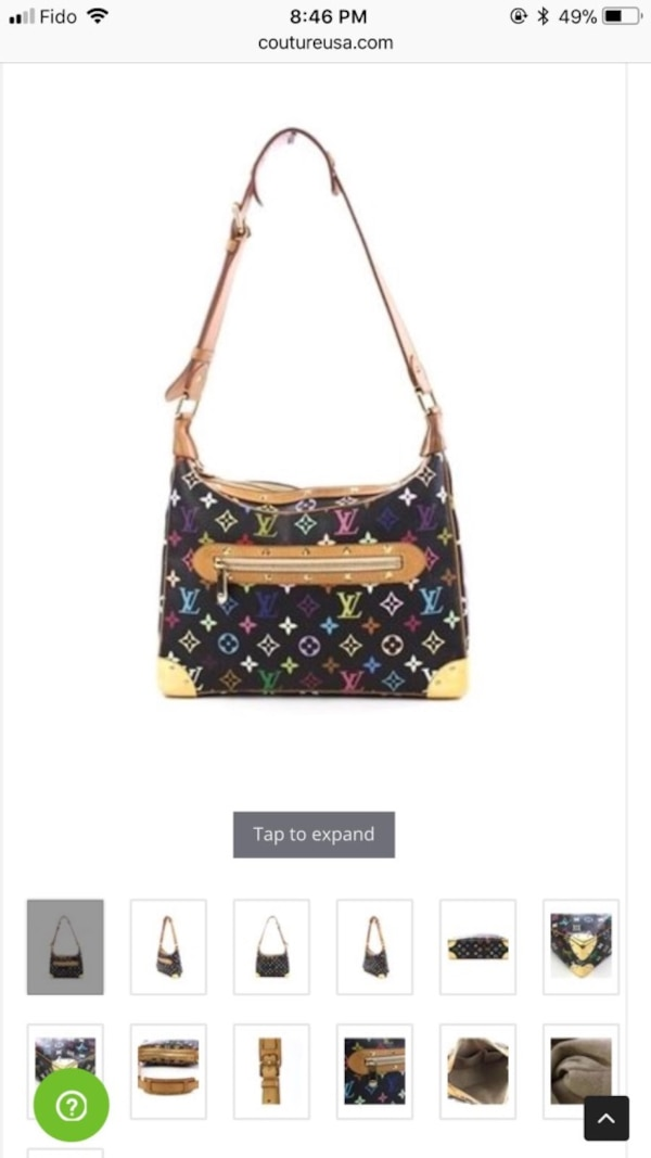 Louis Vuitton Black Monogram multicolore