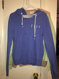 Victoria's Secret PINK (Small) blue hoodie. Used! No tears but has some wearing. Look closely at pictures El Paso, 79936