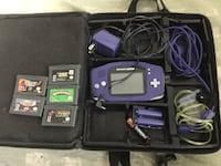 Game boy Advance,Charger,cords,5 games and case Langley, V3A 3R4