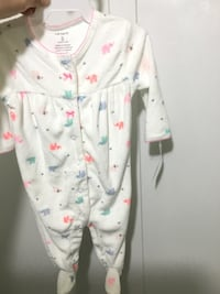 white and pink floral onesie Arlington, 22205