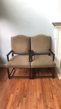 two black metal framed brown padded armchairs Ashburn, 20147