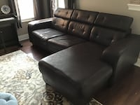Black faux leather sectional  Markham, L6E 0M4