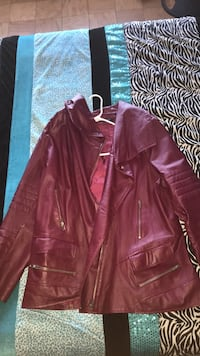 Rose Colored Leather Jacket