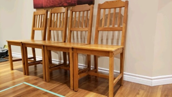 Wood  chairs - antique stain fe38d106-5471-4306-bcf3-ec815ef2917e