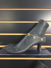 Stainless steel gold plated ankle