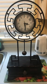 round black and white analog wall clock New Westminster, V3M 6L6