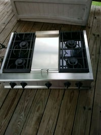 gray and black 4-burner gas stove 35 km