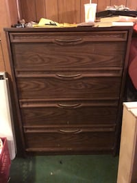 brown wooden 4-drawer chest 39 mi