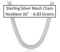 NEW WOMEN'S SILVER CHAIN NECKLACE