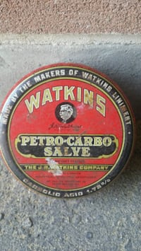 Tin - Watkins Petro-Carbo Salve Pickup in Newmarke Newmarket, L3Y 3J3