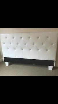 White and black wooden bed frame Capitol Heights, 20743
