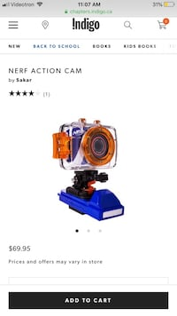 Nerf action video camera kids