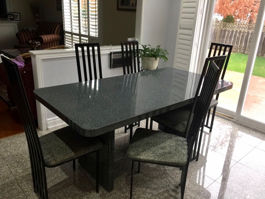 Used piece dining table chairs in brampton