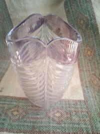 Glass vase clear with pink Las Vegas