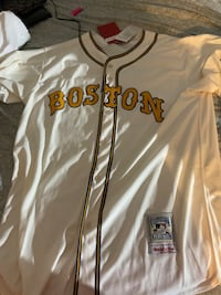 Boston Red Sox Cooperstown Collection Brand New Baseball Jersey