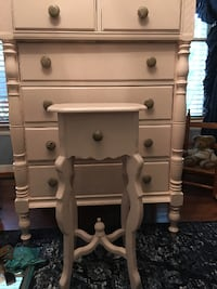 Perfect Pink Chest + Side Table + High Chair North Chesterfield