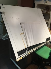 White wooden drafting board 3x4 with adjust level. Toronto, M3H 2M2