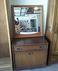 brown wooden cabinet with mirror Cottonwood, 96022