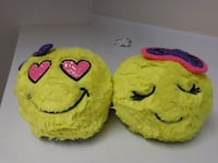 """Justice"" NEON"" yellow PLUSH SLIPPERS! Omaha, 68114"
