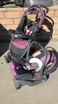 Graco purple stroller and car seat set Los Angeles, 91406