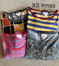 Lot of 4 NEW XS LuLaRoe Irma