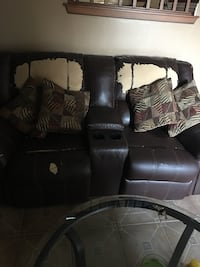 black leather home theater sofa Bakersfield, 93312