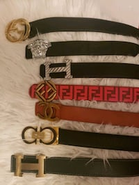designer leather belts Pickering