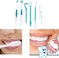 Ny 8 st pieces teeth whitening kits oral care tooth brush toothpicks 6556 km