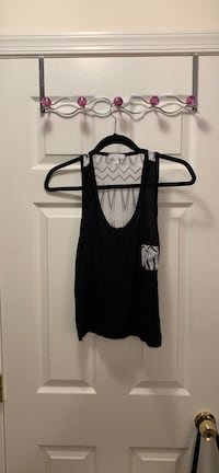 Black Tank with Patterned Back  Silver Spring, 20906