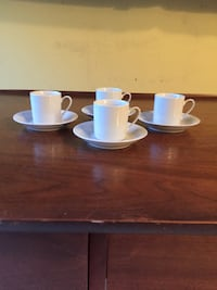 Set of 4 demitasse. Cups and saucers. Very seldom lay used   Liverpool, 13090