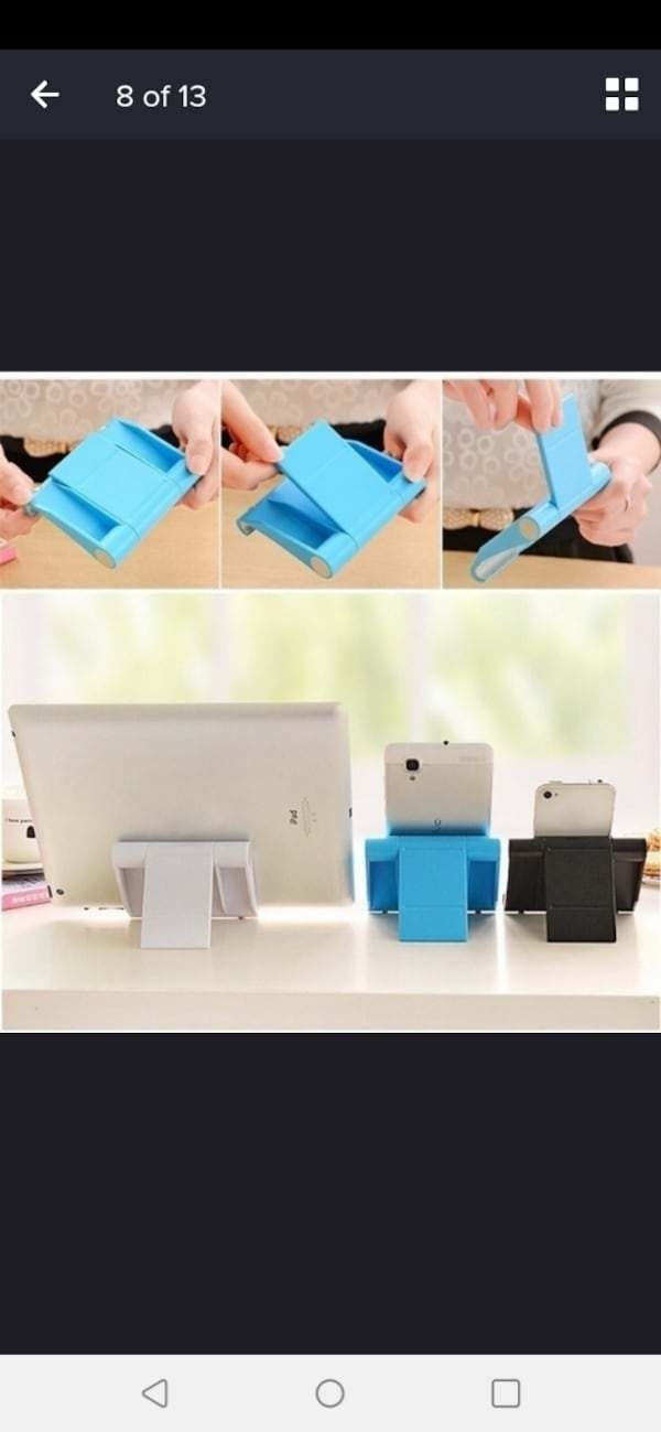 Stand holder for cell phone or tablets 78669910-8a80-4dd5-a16e-57670a041d11