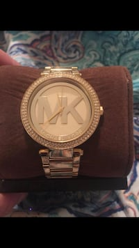 round gold Michael Kors analog watch with link bracelet Tampa, 33637