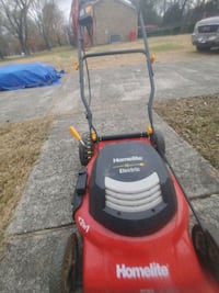 Electric push mower with extention cord