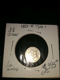 key date Rare 1851-0 type 1 3 cent silver coin! Burke