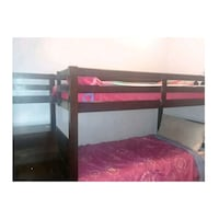 black wooden bunk bed with stairs  Anaheim, 92804