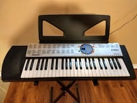 Yamaha electronic piano PSR -125 with stand.