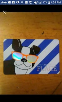 Gift Card for $50 for the children's place Hamilton, L8M 1H9