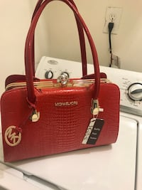 red and brown leather tote bag Austell, 30168