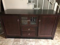 Wooden solid entertainment center storage Winston-Salem, 27103