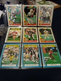 nine 1000 Yard Club football trading cards Everett, 98204