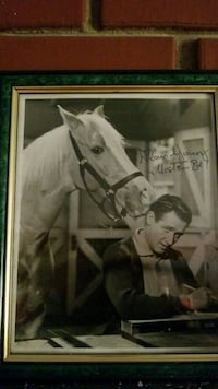 white horse poster with green frame Overland Park, 66213