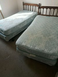$45 each Twin beds with matress and boxspring East York