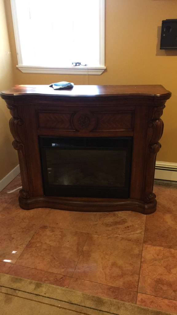 used solid wood electric fireplace would like 150 open to offers for rh gb letgo com