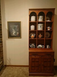 brown wooden cabinet with shelf Lindale