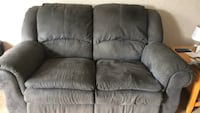 Gray suede 3-seat sofa Englewood, 45315