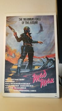 Mad Max stretched canvas original.