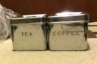 Stackable Coffee and Tea Canisters (Retro look) Toronto, M8Y 4G7