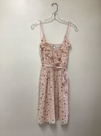 Women's LAUREN CONRAD  peach floral print lined dress… Size 4 Manasquan, 08736
